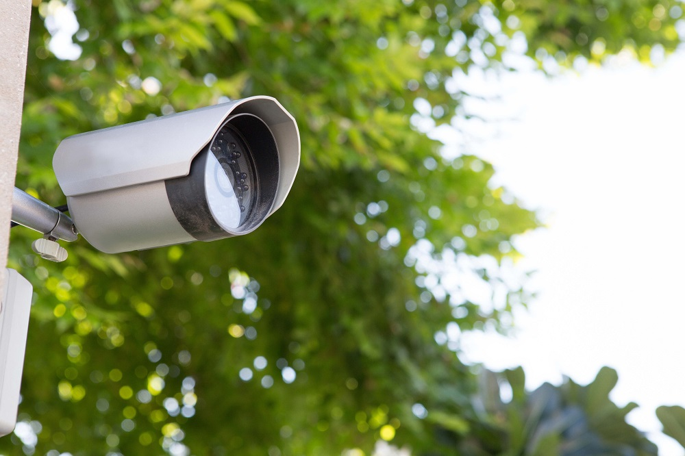 Photo of Security camera in the village, and in the park