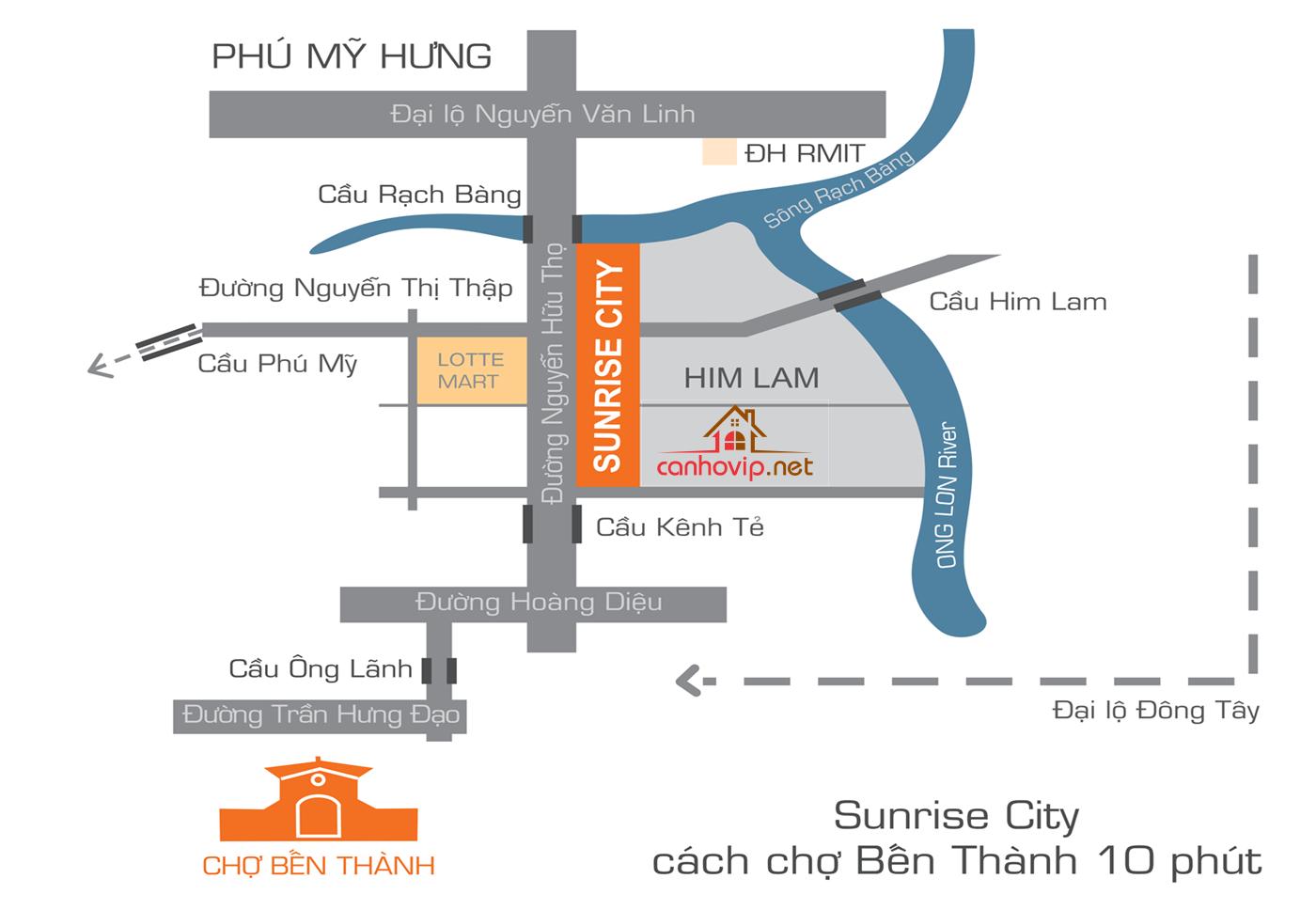 Căn hộ Sunrise City quận 7 cho thuê theo tháng