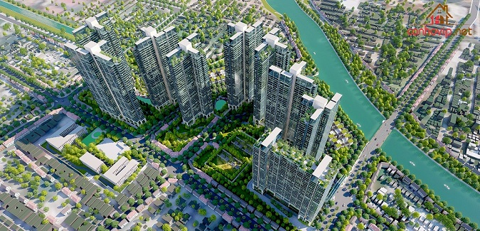 Phối cảnh tổng thể khu căn hộ Sunshine City Saigon tại quận 7