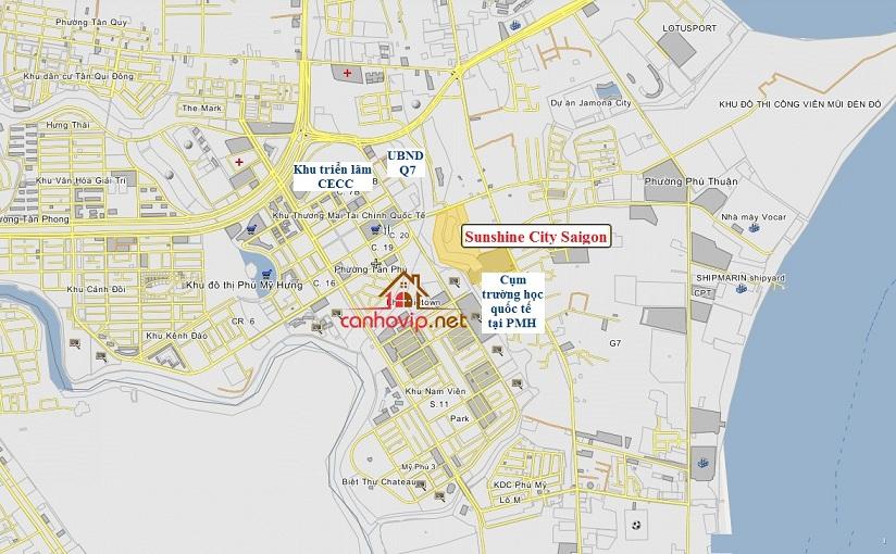 Vị trí đắt địa của căn hộ Sunshine City Saigon