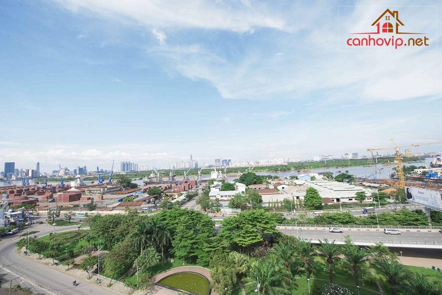 View thông thoáng căn hộ Riva Park