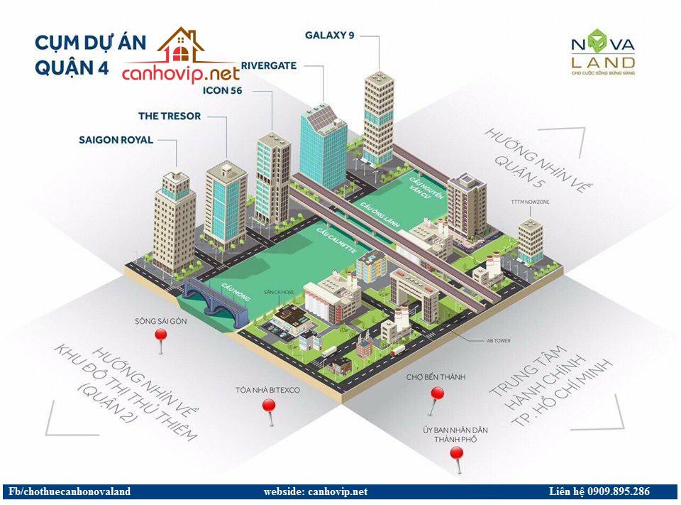 Chuyên cho thuê căn hộ Novaland quận 4