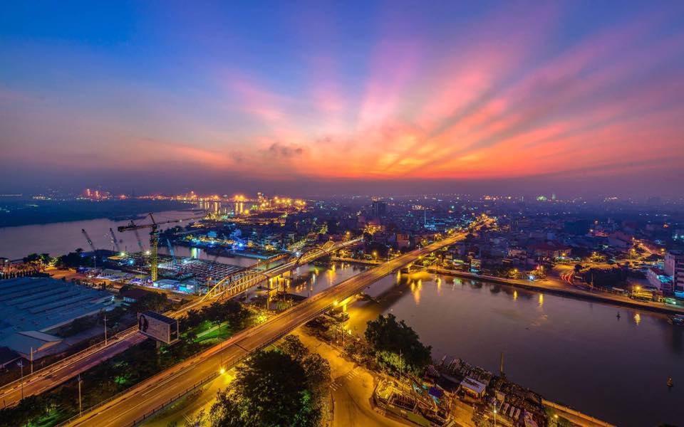 View cầu Tân Thuận quận 4